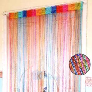 Tirai Benang Glitter Pelangi