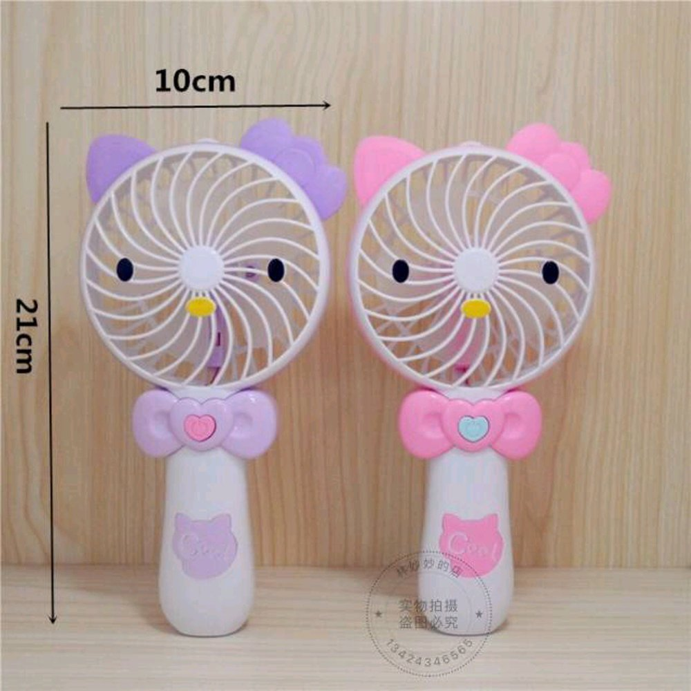Mini Hand Fan / Kipas Genggam Gagang / Kipas Angin