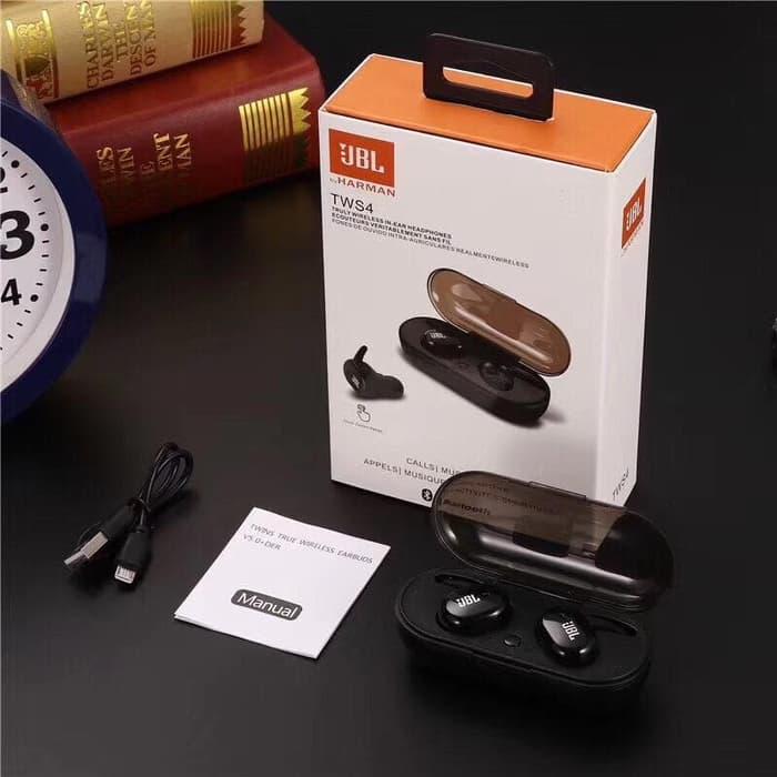 Headset Handsfree Earphone Bluetooth Jbl Tws 4 Tws By Harman Jadi Store